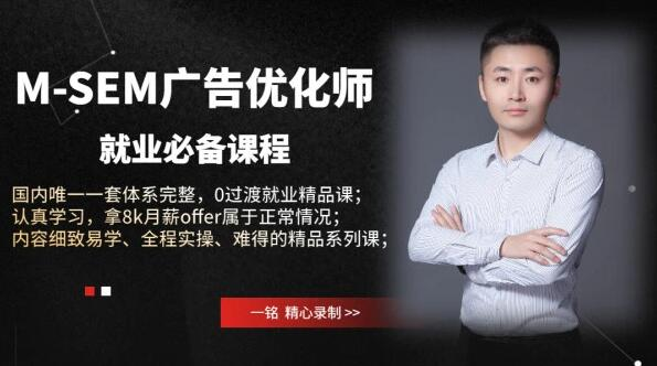 王微·国内体系最完整M-SEM广告课程,价值1680元