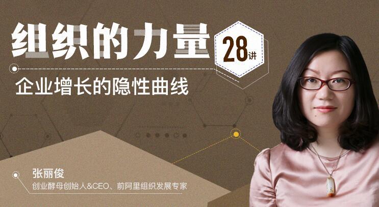 张丽俊·组织的力量28讲,企业增长的隐形曲线
